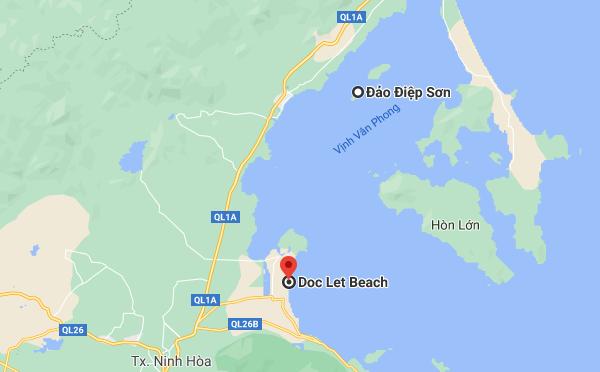 Bản đồ du lịch Điệp Sơn - Dốc Lết Nha Trang