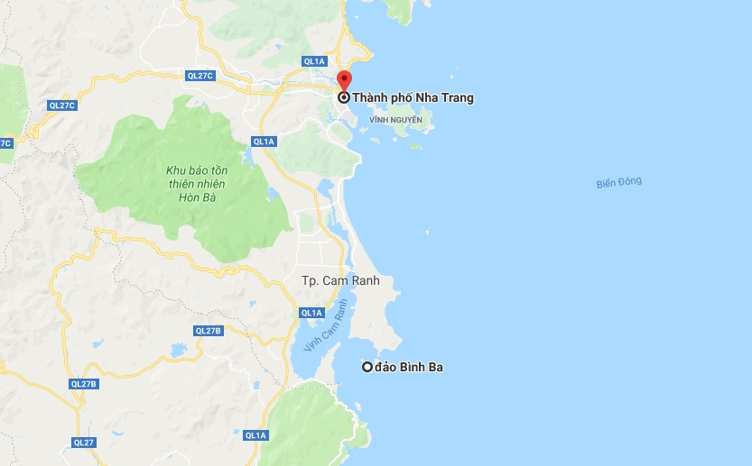 Bình Ba Nha Trang map